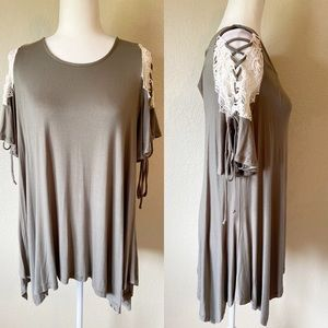 NWT Boutique Olive Green Tunic